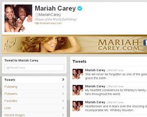 Mariah Carey trocou o seu perfil no Twitter para uma foto em que está com Whitney Houston (Foto: Reprodução)