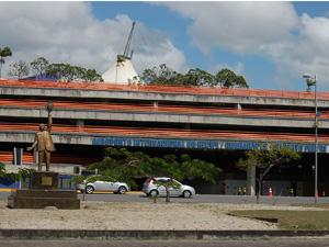 Fachada do Aeroporto Internacional do Recife/Guararapes — Gilberto Freyre. (Foto: G1PE)