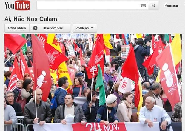 """Vídeo de """"Ai, não nos calam!"""", versão do hit de Michel Teló sobre crise em Portugal (Foto: Reprodução)"""