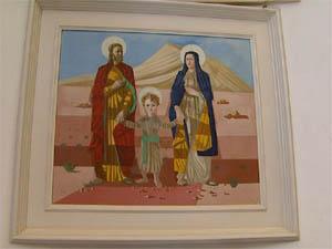"""""""A Sagrada Família"""" de Cândido Portinari em Batatais, SP (Foto: Reprodução/EPTV)"""