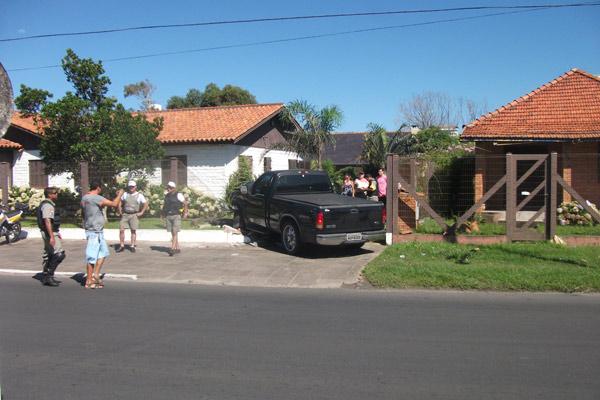 Vereador de São Sebastião do Caí bateu o carro e foi flagrado no bafômetro (Foto: Arquivo pessoal/Vitor Gabriel Barchet)
