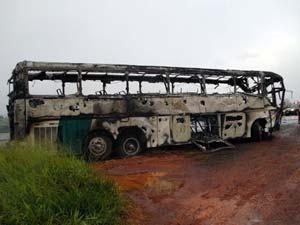 Ônibus transportava 49 professores  (Foto: Polícia Rodoviária Federal)