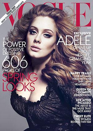 Adele na capa da 'Vogue' março 2012 (Foto: AP)