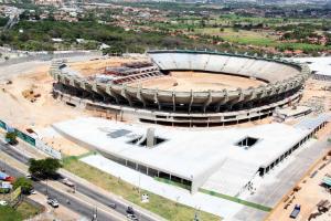 Trabalhadores da reforma do estádio Castelão paralisam obras no Ceará (Foto: Divulgação / CECOPA-CE)