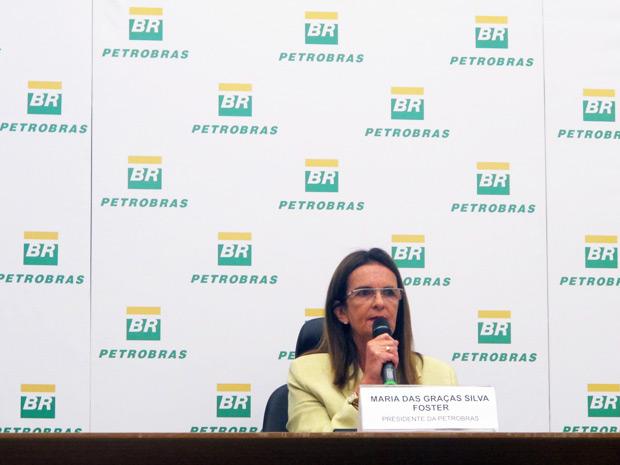 Graça Foster dá a primeira coletiva de imprensa como presidente da Petrobras (Foto: Bernardo Tabak/G1)