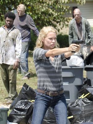 Laurie Holden, como a Andrea de 'The walking dead' (Foto: Divulgação)