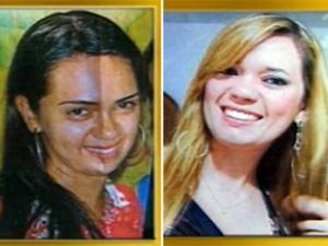 Vítimas são a recepcionista Michele e a professora Isabela (Foto: Reprodução/TV Paraíba)