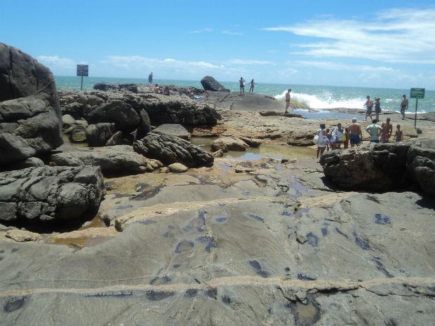 Visual da Praia do Ermitão (Foto: Leandro Nossa / G1 ES)