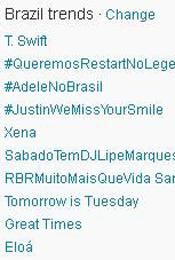 Trending Topics no Brasil às 17h56 (Foto: Reprodução)