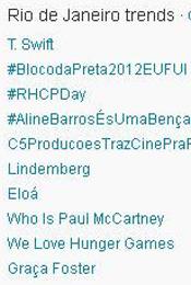 Trending Topics no Rio às 17h13 (Foto: Reprodução)