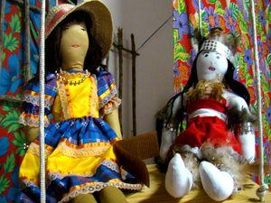 Boneca de pano, mais uma tradição de São Cristóvão (Foto: Joelma Gonçalves/G1)