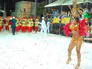 Passista de desfile das escolas de samba no Carnaval de Corumbá em 2011 (Foto: Divulgação/Prefeitura de Corumbá)