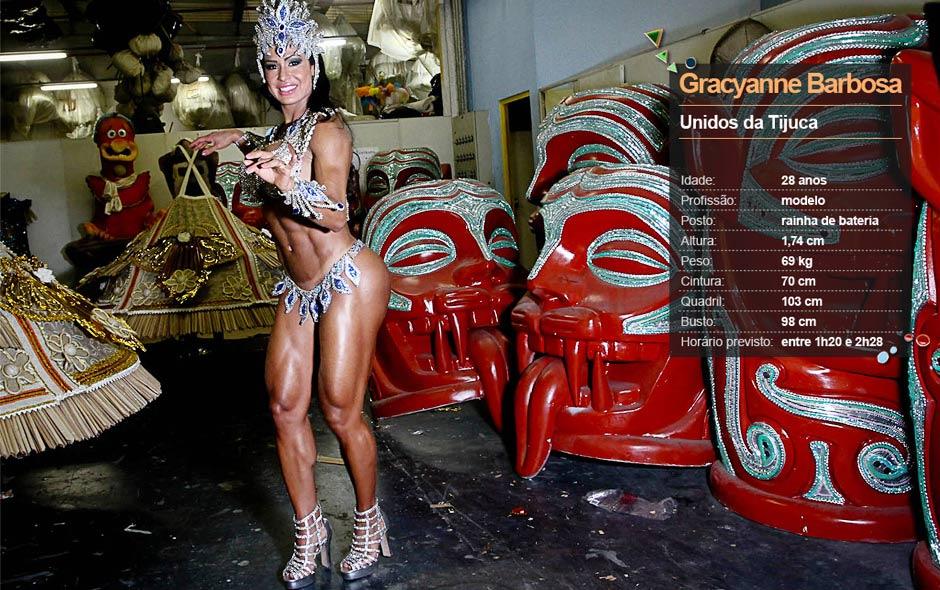 Unidos da Tijuca - Gracyanne Barbosa (rainha de bateria)