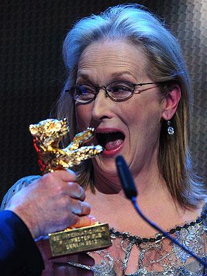 Meryl Streep no Festival de Berlim 2012 (Foto: Johannes Eisele/AFP)