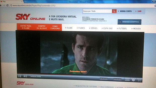 Serviço 'Sky Online' permite assistir a filmes pela internet (Foto: Gustavo Petró/G1)