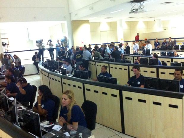 Sede da Central Integrada de Atendimento e Despacho (Ciade), que monitora as imagens feitas pelas câmeras (Foto: G1)