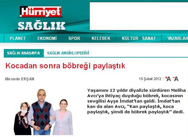 Mehmet Avci com a amante Ayse e a esposa Meliha (Foto: Reprodução/Hürriyet)