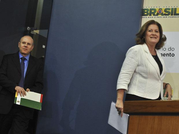 Guido Mantega, Miriam Belchior (Foto: Agência Brasil)