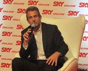 Presidente da Sky, Luiz Eduardo Baptista da Rocha, falou com jornalistas em evento em São Paulo (Foto: Gustavo Petró/G1)
