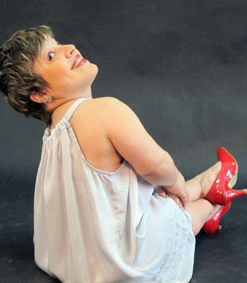 Priscilla Menucci, modelo de 91 cm (Foto: Giovana Sanchez/G1)
