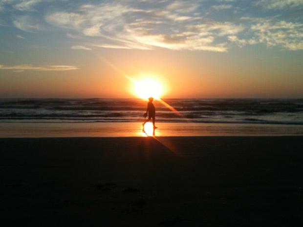 Manhã é de sol e céu limpo em Capão da Canoa, RS (Foto: Lúcio Brancato/RBS TV)