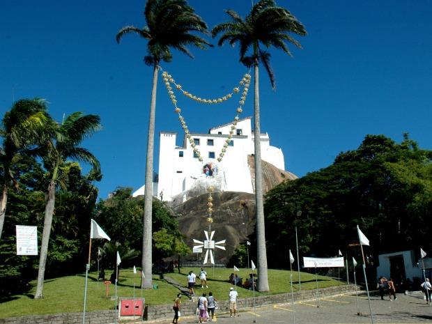 Convento da Penha, em Vila Velha, na Grande Vitória. (Foto: Mariana Perim/G1 ES)