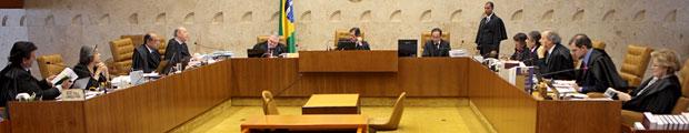 Ministros do Supremo Tribunal Federal durante o julgamento da Lei da Ficha Limpa (Foto: Nelson Jr. / STF)