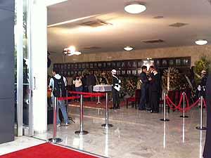 Velório do ex-presidente do Supremo Mauricio Corrêa neste sábado (18) no Salão Branco do STF (Foto: Nathalia Passarinho/G1)