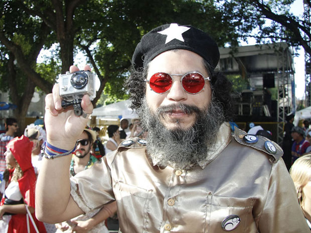Che Guevara também foi homenageado (Foto: Ideraldo Gomes/G1)