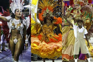 Favoritas ao Carnaval de Porto Alegre (Foto: Montagem sobre fotos Francielle Caetano/PMPA e Evandro Oliveira/PMPA)