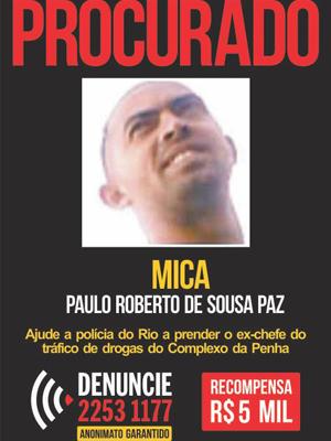 Traficante Mica foi preso em Maricá (Foto: Divulgação/Disque-Denúncia)