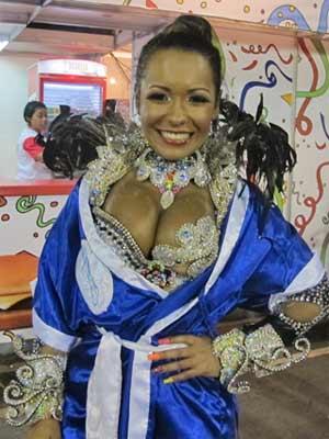 A rainha de bateria da Beija-Flor, Raíssa Oliveira (Foto: Alba VAléria Mendonça/jG1)