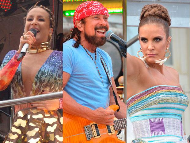 Veja quem comanda o carnaval de Salvador nesta segunda-feira (Foto: Arte/G1)
