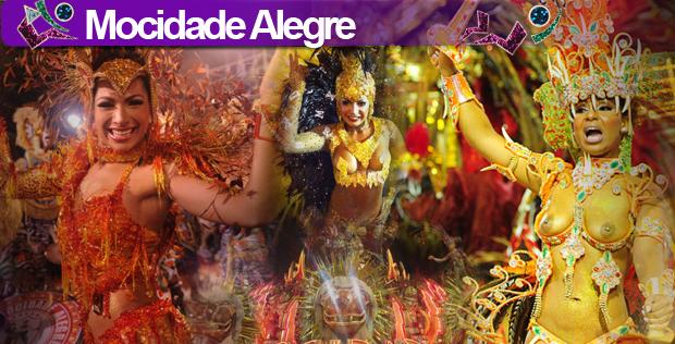 Montagem desfile Mocidade Alegre (Foto: Arte G1)