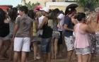 40 mil foliões animam a Praia do Presídio (TV Verdes Mares/Reprodução)