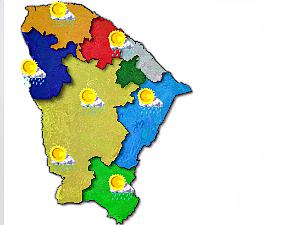 Previsão do tempo no Ceará para esta segunda-feira (21). (Foto: Divulgação/Funceme)