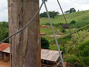 Zip-line, or tirolessa, in Monte Alegre, near Aguas de Lindoia, in the interior of Sao Paulo state, snapped on Monday killing a 54-year-old woman from the City of Sao Paulo