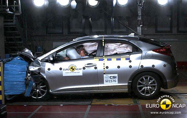 Honda Civic Hatch ganhou pontuação máxima em teste de segurança europeu (Foto: Divulgação)