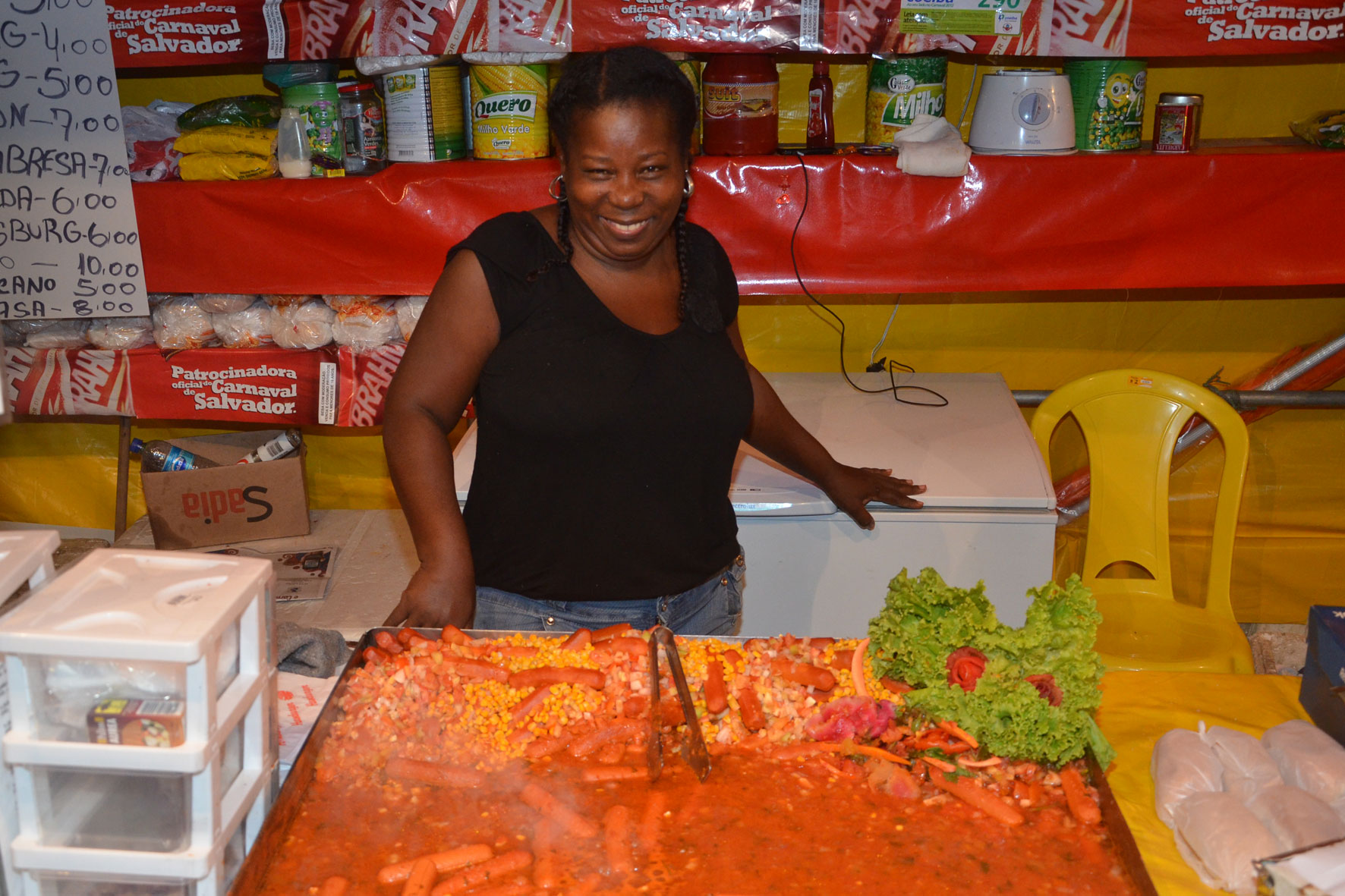 Maria Eliza, vendedora (Foto: Eduardo Freire/G1)