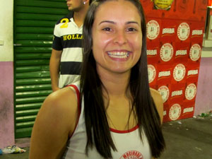 É como ver seu time ser campeão, diz jovem passista (Foto: Rafael Oliveira/G1)