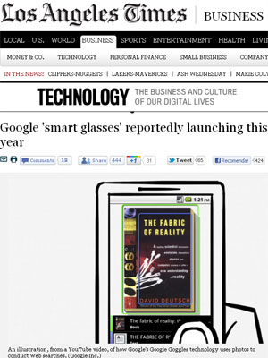 Conforme jornal, Google usaria a mesma tecnologia do Goggles, que busca informações na web por meio de imagens (Foto: Reprodução)