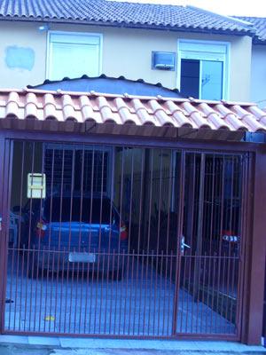 Casa onde homem matou a companheira grávida de oito meses em Cachoeirinha, RS (Foto: Elisandro Corso/Folha Regional/Divulgação)