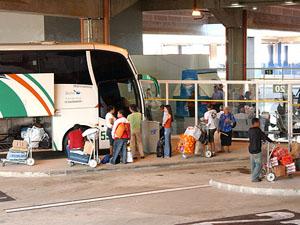 Passageiros embarcam em ônibus na Rodoviária de Campinas (Foto: Divulgação/Prefeitura de Campinas)
