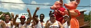 'Porca da Quarta' trouxe mascote político em 2012 ('Porca da Quarta' traz mascote político em 2012 (Reprodução/TV Gazeta))