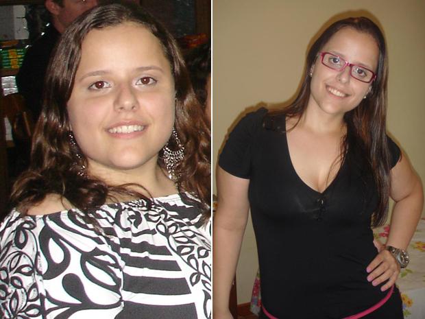 Beatriz antes e depois (Foto: Arquivo pessoal)