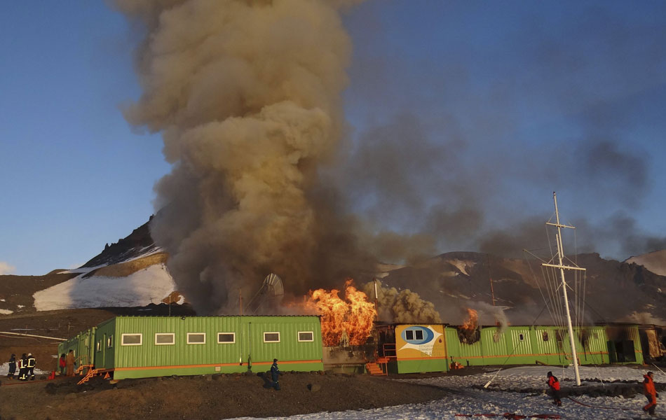 One of Brazil's two Antarctic stations, Comandante Ferraz destroyed by fire on Saturday 25 February 2012