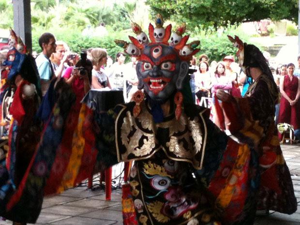 Cerimônia é aberta a turistas e a moradores da região da serra do Rio Grande do Sul (Foto: Luciane Kohlmann)