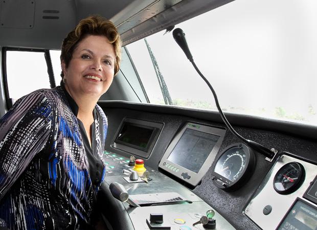 A presidente Dilma Rousseff, durante evento para anúncio de investimentos no metrô de Fortaleza. (Foto: Roberto Stuckert Filho/PR)