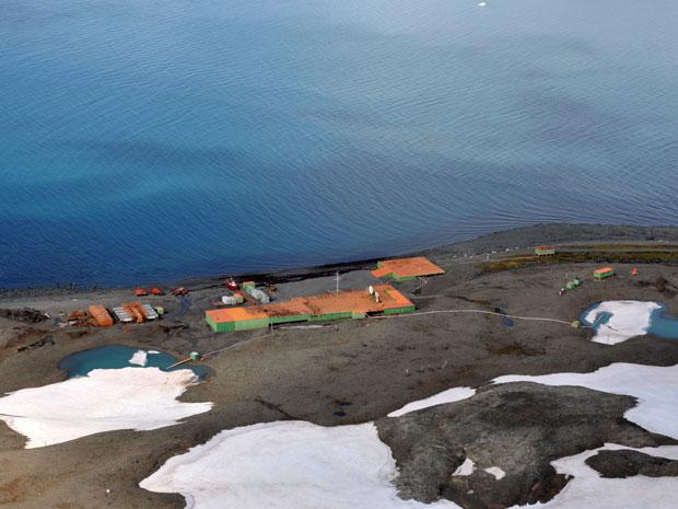 Estação Antártica Comandante Ferraz, em 2011 (Foto: LPP/Ufes)