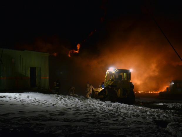 Incêndio na Estação Comandante Ferraz, na Antártida (Foto: César Rodrigo dos Santos/Arquivo Pessoal)